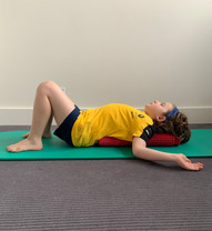thoracic extension stretch aids in reducing an increased thoracic kyphosis, stretches chest muscles and relieves slumped posture from prolonged sitting