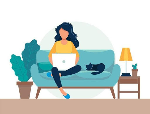 Sitting on the couch with your laptop is not the best ergonomic for maintaining pain-free good posture!