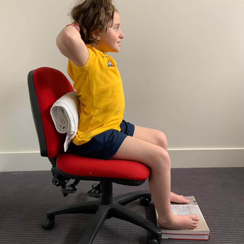 Shoulder Blade Squeeze - works to stabilise the scapula and strengthen upper back posture