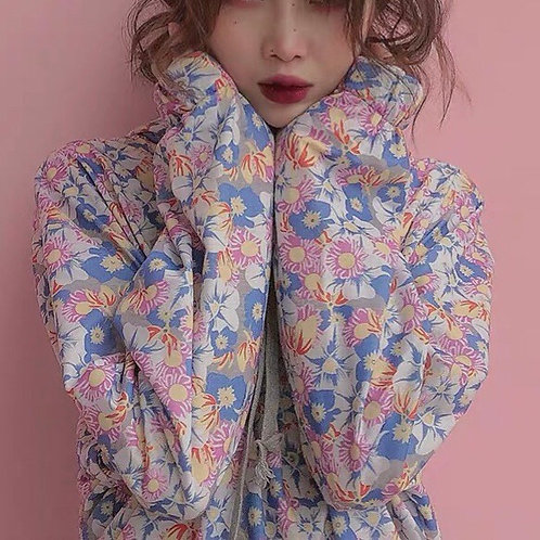 Pink Daisy All Over Print Hoodie