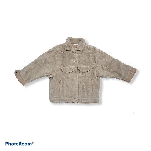 Beige fluffy jacket