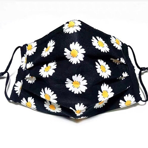 Cotton Face Mask with Daisy Print