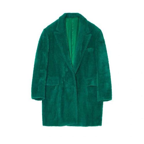 Unisex Extra Warm Green Faux Fur Blazer