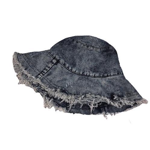 Grey Denim Bucket Hat