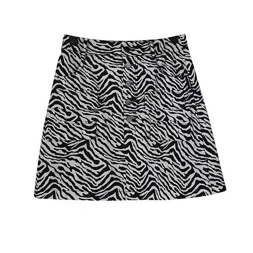 Zebra Print Skirt with Pocket