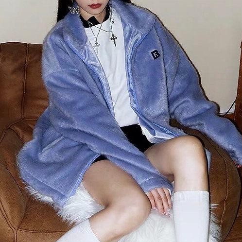 Blue/Purple Soft Fluffy Oversized Jackets