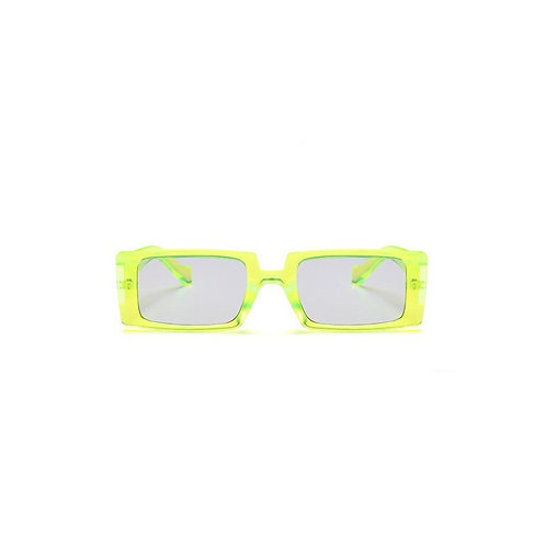 Neon Green Geometric Sunglasses