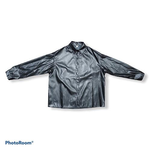 Faux leather black shirt