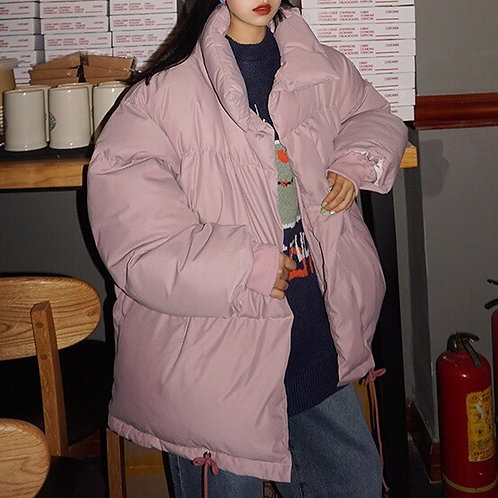 Multi-Color Unisex Pink Puffer Jacket