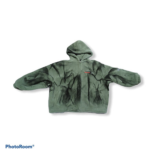 Unisex oversied fluffy jacket with hoodie