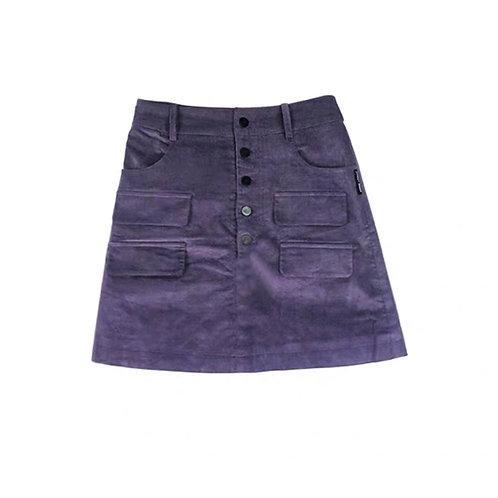 Purple Skirt with Pocket