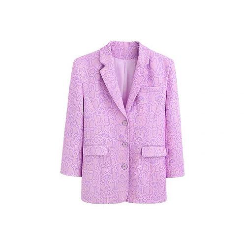 Pink Snake Skin Oversized Blazer