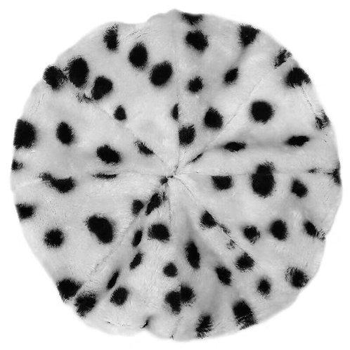 White Leopard Faux Fur Hat