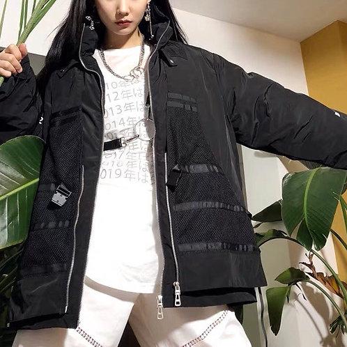 Black Oversized Cotton Jacket