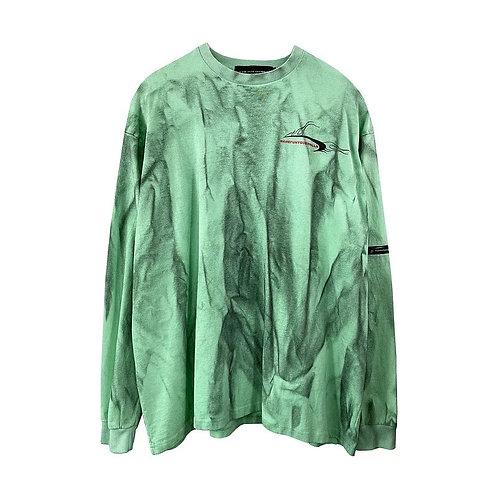 Green with black dye T-shirt