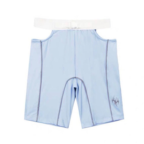 Baby Blue Cut Out Sports Shorts with 3M Reflective