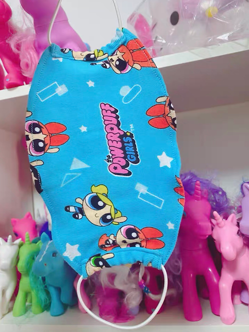 Cotton Face Mask with The Powerpuff Girls Print