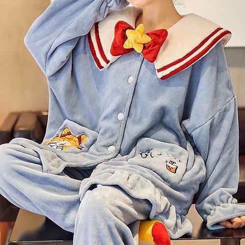Soft Fleece Pajamas in JK style