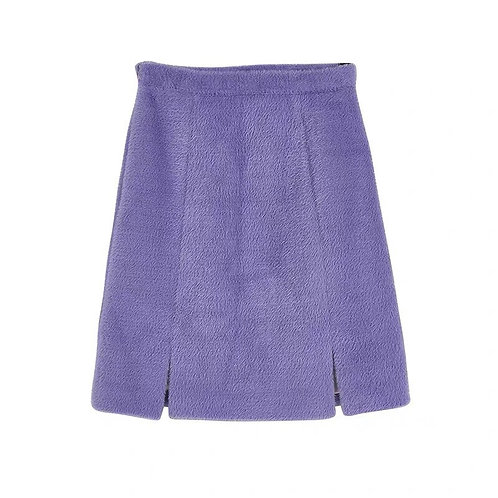 Extra Warm Purple Faux Fur Skirt
