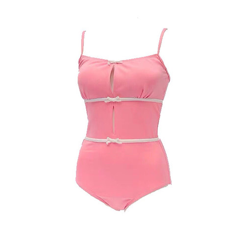 Pink Cute Strap Swimsuit