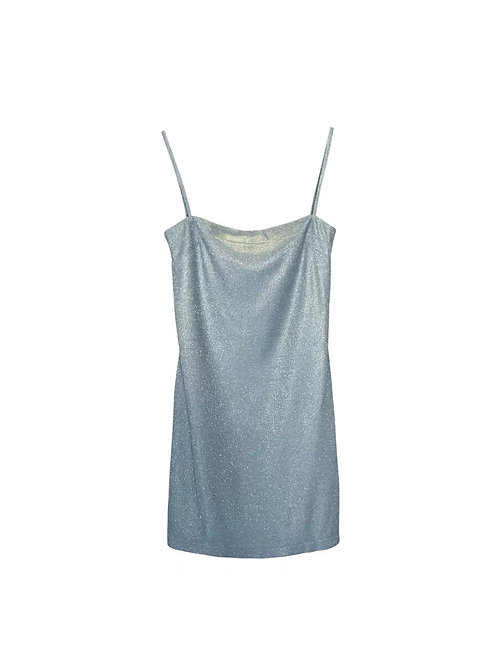 Light Blue Blingbling Strap Dress