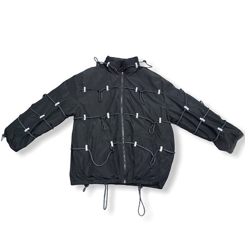 Black jacket with elastic detail