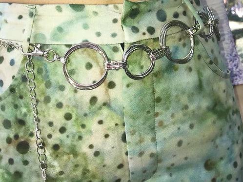 Silver Metal Double Circular Waist Chain