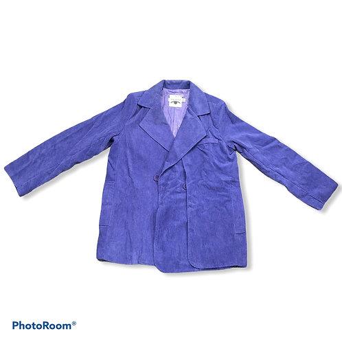 Purple corduroy blazer