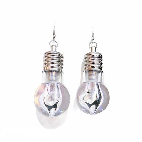 Bulb Shape Earring with Light