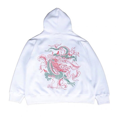 RTVG Unisex Dragon Embroidery Hoodie