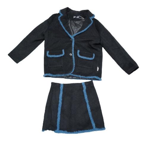 Black skirt and blazer set