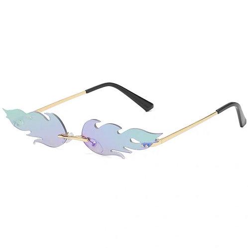 Rainbow Reflective Fire Sunglasses