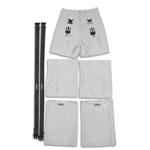 Detachable grey trousers
