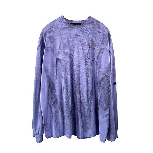Purple bleached T-shirt