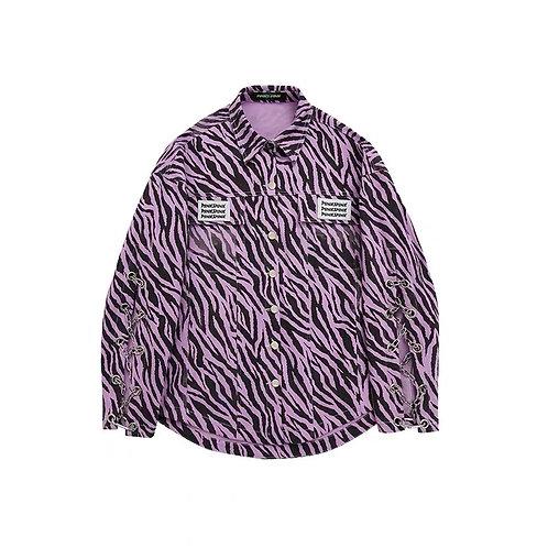 Purple zebra print jacket