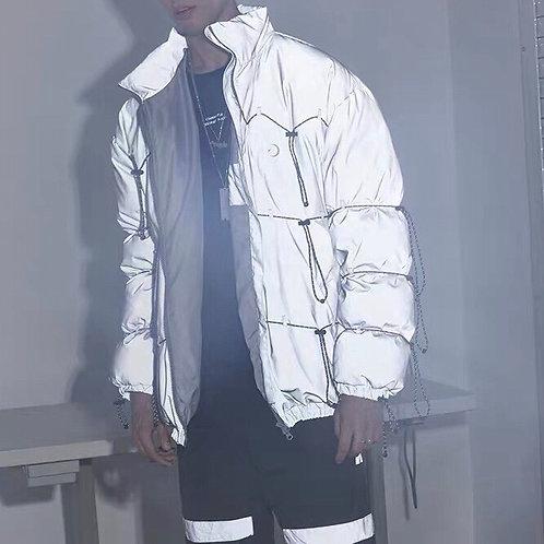 Grey 3M Reflective Down Jacket