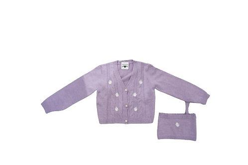 Purple cardigan and top