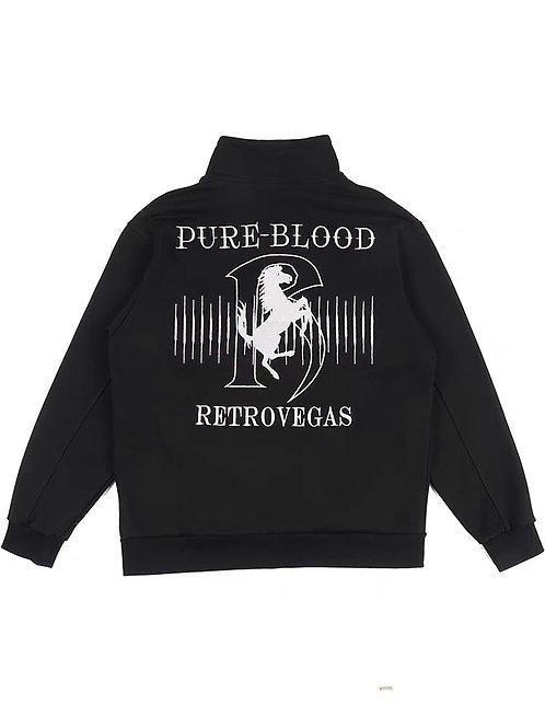 Pure blood print black sweater