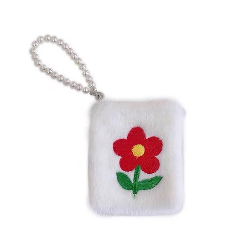 Fluffy Flower Handbag with Pearl