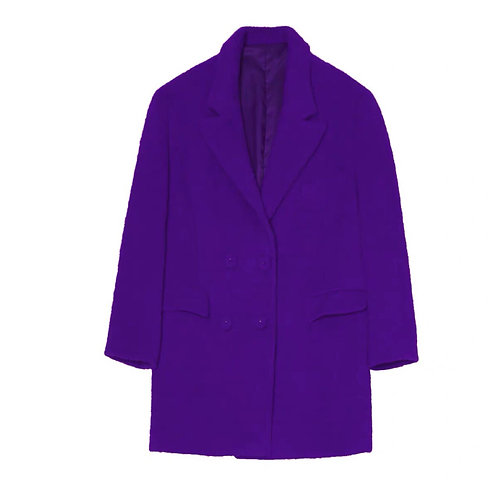 Unisex Extra Warm Purple Faux Fur Blazer