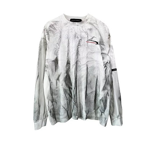 White with black dye T-Shirt