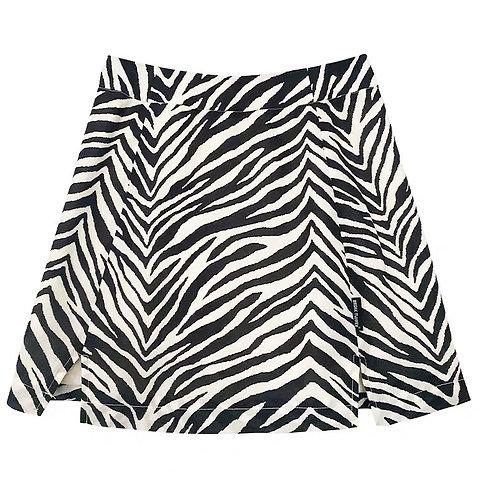 Zebra Print High Waist Skirt