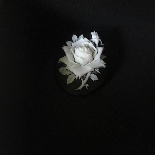 Handmade Rose Relief Brooch