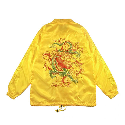 RTVG Unisex Silk Jacket with Dragon Embroidery
