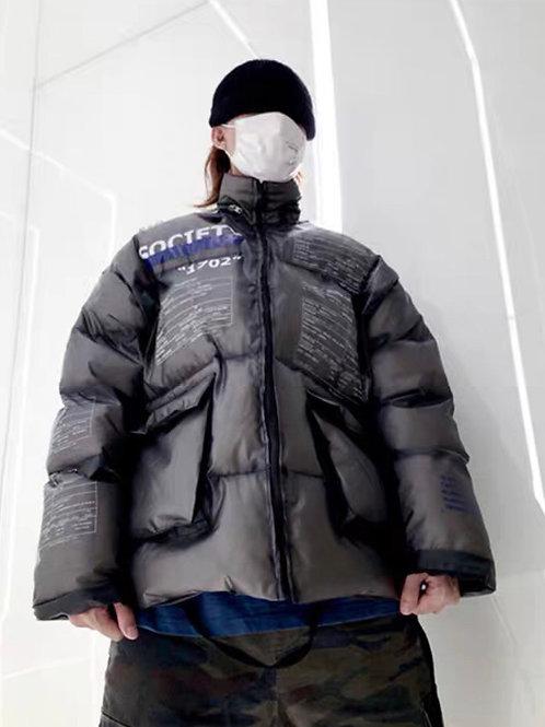 Unisex Black Transparent Down Jacket