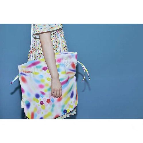 Flower Shoulder Bag with Drawstring