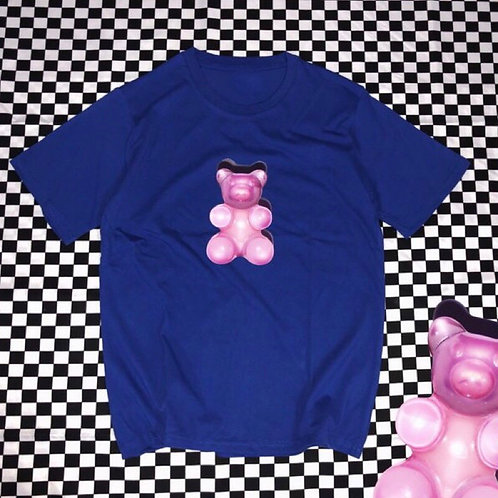Unisex Blue T-shirt with Gummy Bear Print