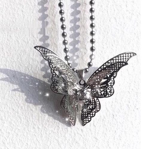 Steel butterfly Necklace
