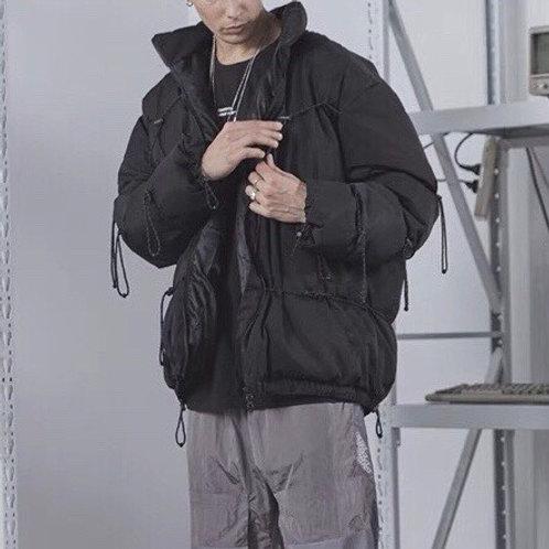 Black 3M Reflective Down Jacket