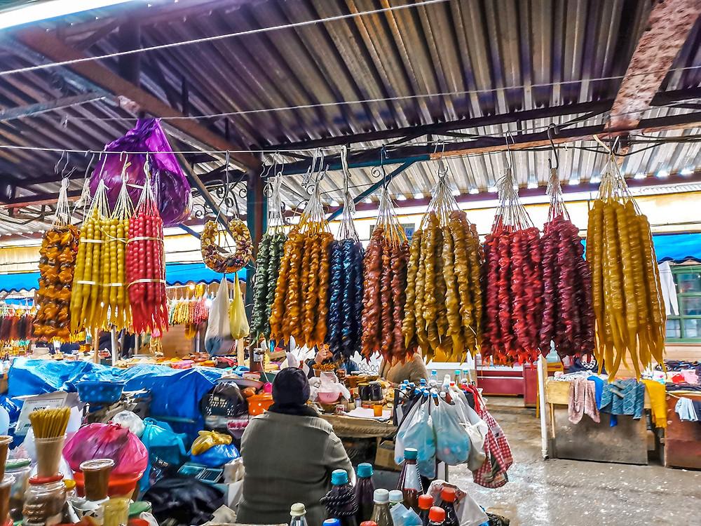 Green market Kutaisi  churckhelas